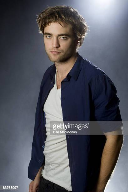 Actor Robert Pattinson poses at a portrait session in Beverly Hills CA