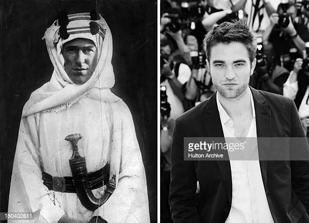 In this composite image a comparison has been made between Thomas Edward Lawrence and actor Robert Pattinson Robert Pattinson will reportedly play T...