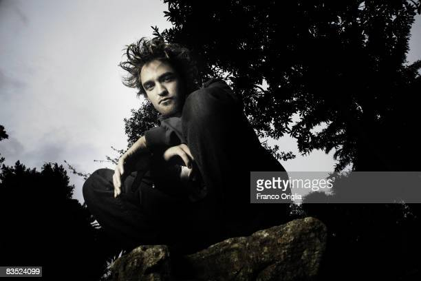Actor Robert Pattinson poses for the 'Twilight' Portrait Session at the 'De Russie' hotel, during the 3rd Rome International Film Festival held at...
