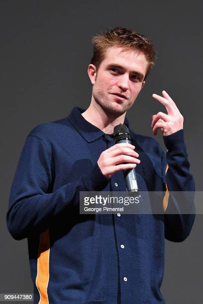 Actor Robert Pattinson speaks onstage during the 'Damsel' Premiere during the 2018 Sundance Film Festival at Eccles Center Theatre on January 23 2018...