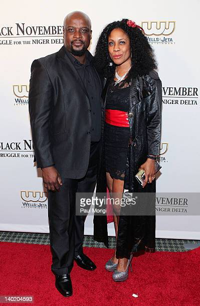 Actor Robert Peters and his wife attend the 'Black November' film screening at The Library of Congress on February 29 2012 in Washington DC