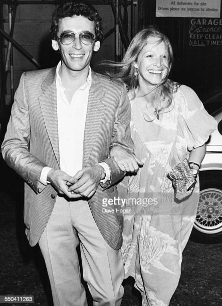 Actor Robert Powell and his wife Babs attending Michael Caine's birthday party at Langan's Brasserie in London July 9th 1982
