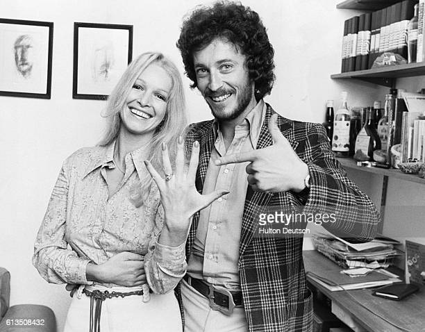 Actor Robert Powell with his wife actress Babs Lord London 1975