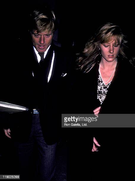 Actor Robert Redford and daughter Shauna Redford attend the opening exhibit of Highlight on November 17 1983 at the International Center of...