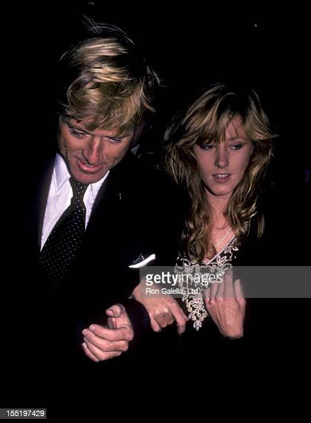 """Actor Robert Redford and daughter Shauna Redford attend the opening exhibit of """"Highlight"""" on November 17, 1983 at the International Center of..."""