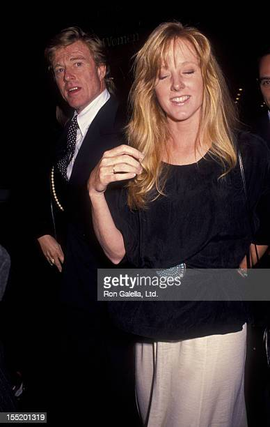 """Actor Robert Redford and daughter Shauna Redford attend the premiere of """"A River Runs Through It"""" on October 8, 1992 at the Ziegfeld Theater in New..."""