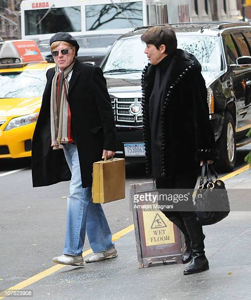 Actor Robert Redford and his wife Lola Redford are seen December 10 2010 in New York City