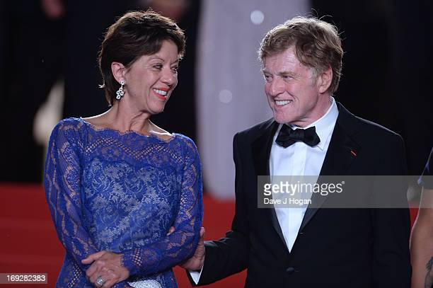 Actor Robert Redford and his wife Sibylle Szaggars attend the 'All Is Lost' Premiere during the 66th Annual Cannes Film Festival at Palais des...