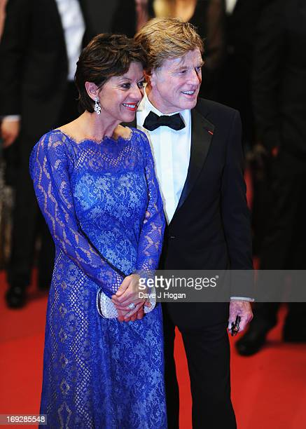 Actor Robert Redford and his wife Sibylle Szaggars leave the 'All Is Lost' Premiere during the 66th Annual Cannes Film Festival at Palais des...