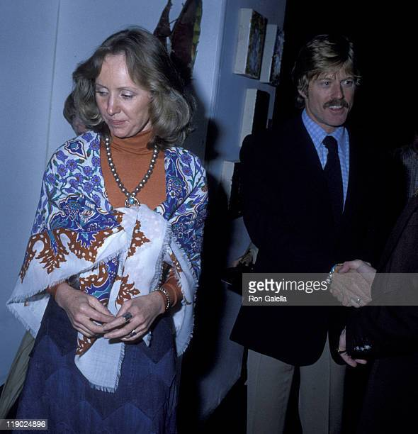 Actor Robert Redford and Lola Redford attend A Future With Alternatives Benefit on May 5 1978 at St John the Divine Cathedral in New York City