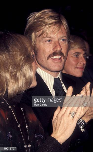 Actor Robert Redford and Lola Redford attend Frank Sinatra Concert on October 13 1974 at Madison Square Garden in New York City