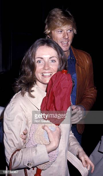 Actor Robert Redford and Lola Redford attend the premiere party for Great Waldo Pepper on March 12 1975 at Rivoli Restaurant in New York City