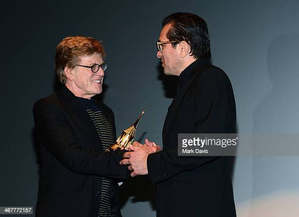 Actor Robert Redford and SBIFF Director Roger Durling attend the 29th Santa Barbara International Film Festival American Riviera Award to Robert...