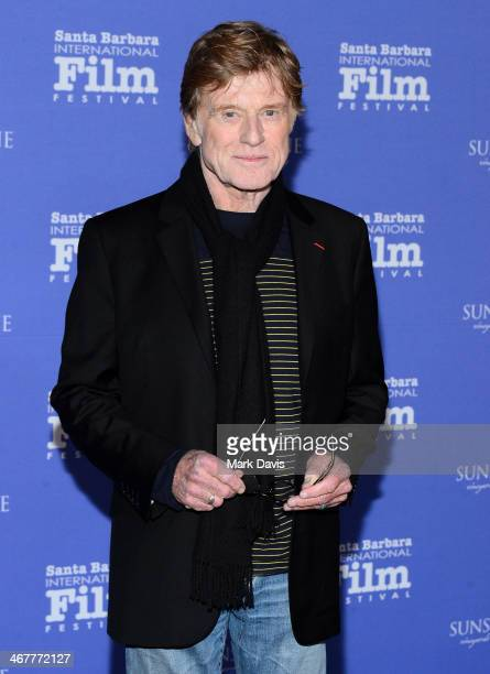 Actor Robert Redford attends the 29th Santa Barbara International Film Festival American Riviera Award to Robert Redford at the Arlington Theatre on...