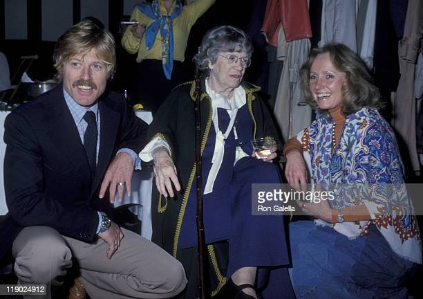 Actor Robert Redford Margaret Mead and Lola Redford attend A Future With Alternatives Benefit on May 5 1978 at St John the Divine Cathedral in New...