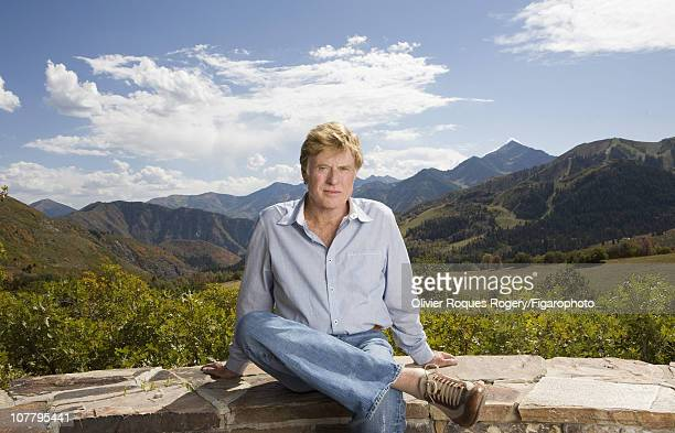 Actor Robert Redford poses outside The Sundance Resort for Le Figaro on November 24 2009 in Sundance Utah Published image Figaro ID 090352006 CREDIT...