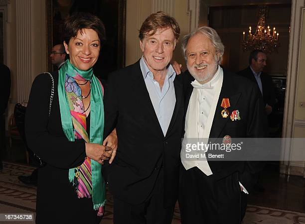 Actor Robert Redford with his wife Sibylle Szaggars and Lord Puttnam attend the American Ambassador's Reception during the Sundance London Film and...
