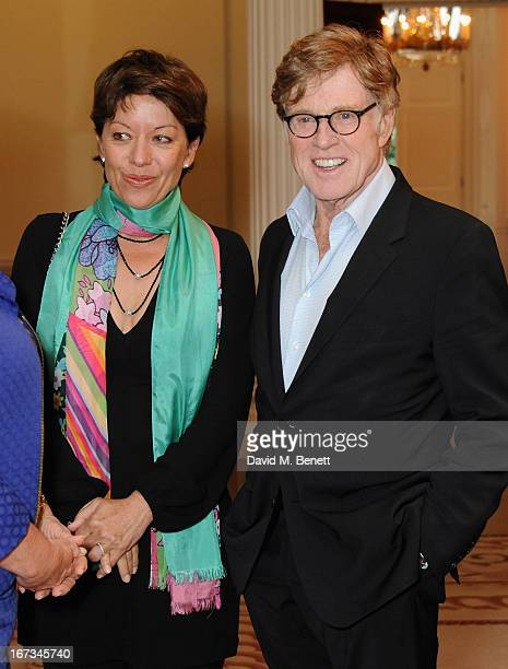 Actor Robert Redford with his wife Sibylle Szaggars attend the American Ambassador's Reception during the Sundance London Film and Music Festival...