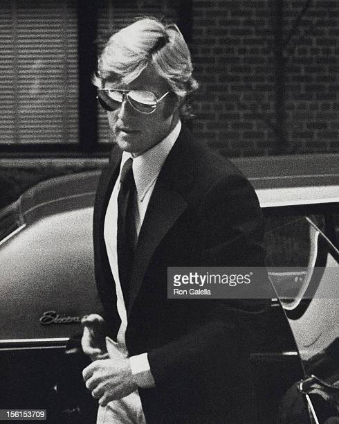 Actor Robert Redord attends Mary Lasker's Cocktail Party for Wayne Owens on May 15 1974 at Mary Lasker's home in New York City
