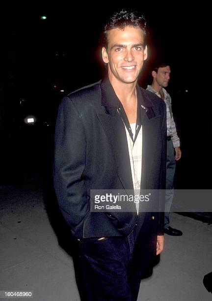 Actor Robert Rusler attends the 'Malice' Beverly Hills Premiere on September 29 1993 at Academy Theatre in Beverly Hills California