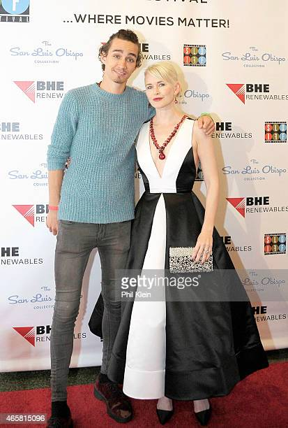Actor Robert Sheehan and Actress Gren Wells attend the 2015 San Luis Obispo International Film Festival at Fremont Theatre on March 10 2015 in San...