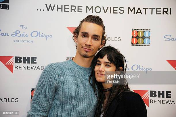 Actor Robert Sheehan and Sofia Boutella attend the 2015 San Luis Obispo International Film Festival at Fremont Theatre on March 10 2015 in San Luis...