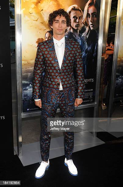 Actor Robert Sheehan arrives at the Los Angeles premiere of 'The Mortal Instruments: City Of Bones' at ArcLight Cinemas Cinerama Dome on August 12,...