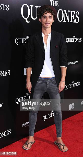 Actor Robert Sheehan arrives at the Los Angeles Premiere of 'The Quiet Ones held on April 22 2014 at The Theatre at ACE hotel in Los Angeles...