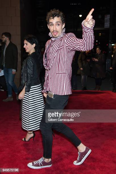 Actor Robert Sheehan arriving to the National Geographic premiere screening of 'Genius Picasso' during the 2018 Tribeca Film Festival at BMCC Tribeca...