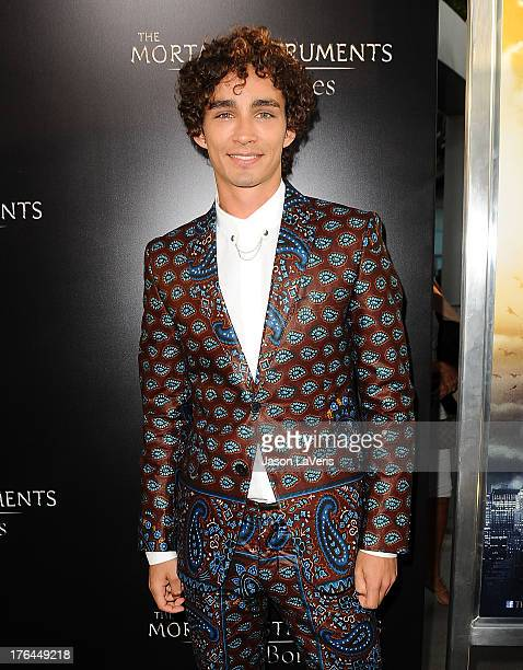 """Actor Robert Sheehan attend the premiere of """"The Mortal Instruments: City Of Bones"""" at ArcLight Cinemas Cinerama Dome on August 12, 2013 in..."""
