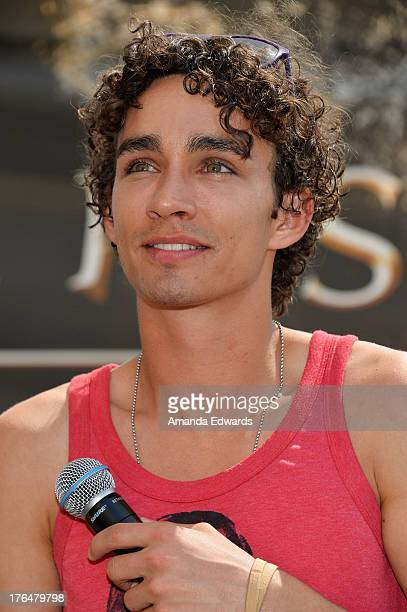 """Actor Robert Sheehan attends """"The Mortal Instruments: City Of Bones"""" meet and greet at The Americana at Brand on August 13, 2013 in Glendale,..."""