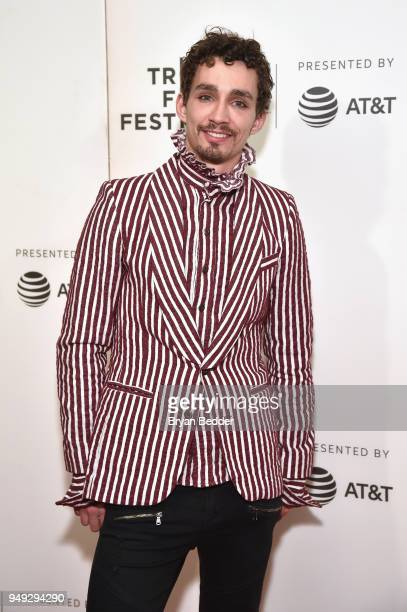 """Actor Robert Sheehan attends the National Geographic premiere screening of """"Genius: Picasso"""" on April 20, 2018 at the Tribeca Film Festival in New..."""