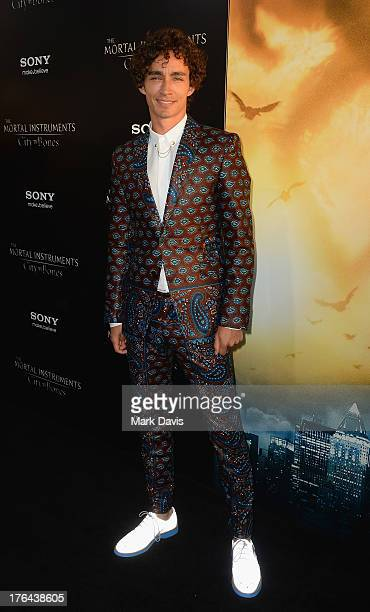 Actor Robert Sheehan attends the premiere of Screen Gems Constantin Films' 'The Mortal Instruments City of Bones' at ArcLight Cinemas Cinerama Dome...