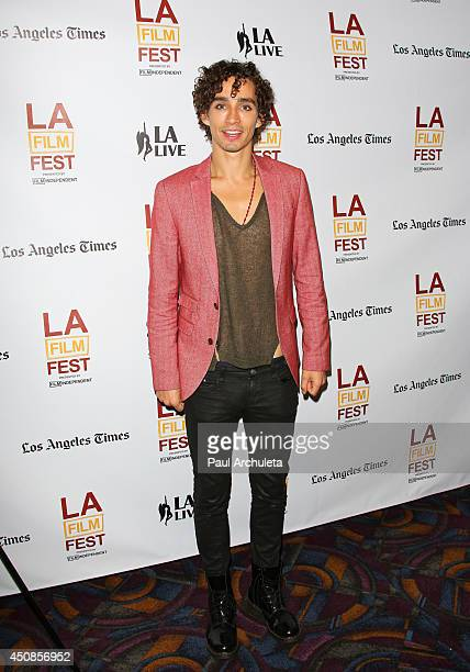 Actor Robert Sheehan attends the premiere of The Road Within at the 2014 Los Angeles Film Festival at Regal Cinemas LA Live on June 18 2014 in Los...