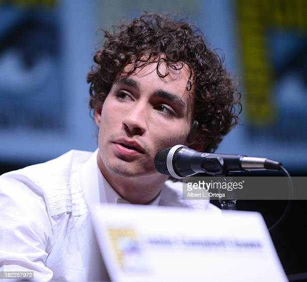 Actor Robert Sheehan attends The Sony and Screen Gems Panelsl as part of Comic-Con International 2013 held at San Diego Convention Center on Friday...
