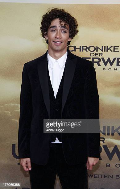 Actor Robert Sheehan attends the 'The Mortal Instruments City of Bones' Germany premiere at Sony Centre on August 20 2013 in Berlin Germany