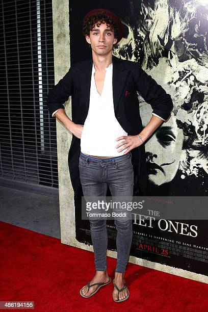 """Actor Robert Sheehan attends the """"The Quiet Ones"""" Los Angeles premiere held at The Theatre At Ace Hotel on April 22, 2014 in Los Angeles, California."""