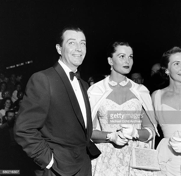 Actor Robert Taylor and wife Ursula Thiess attend the premiere of King and I in Los AngelesCA