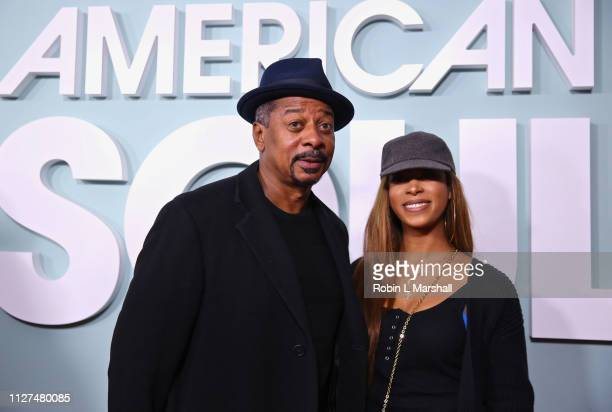 Actor Robert Townsend and daughter attend BET's 'American Soul' Red Carpet at Wolf Theatre on February 04 2019 in North Hollywood California