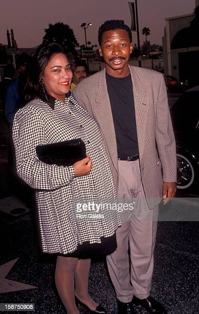 Actor Robert Townsend and wife Cheri Jones attend the premiere of Sarafina on July 18 1991 at the Doolittle Theater in Hollywood California