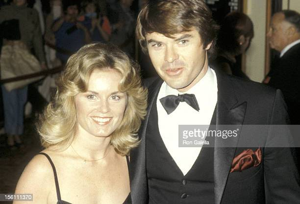 Actor Robert Urich and wife Heather Menzies attend the 37th Annual Golden Globe Awards on January 26 1980 at Beverly Hilton Hotel in Beverly Hills...
