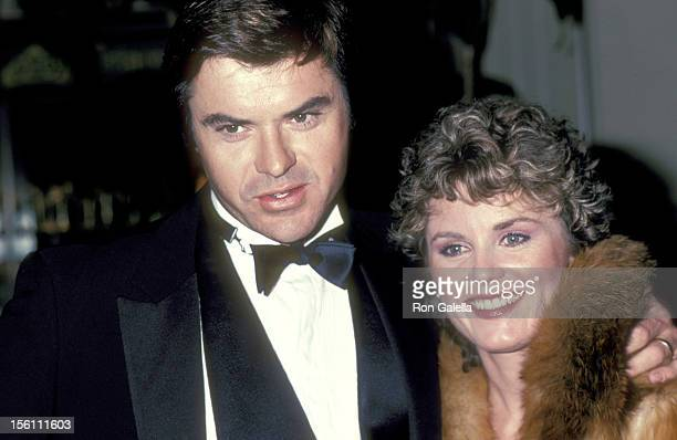 Actor Robert Urich and wife Heather Menzies attend the 40th Annual Golden Globe Awards on January 29 1983 at Beverly Hilton Hotel in Beverly Hills...