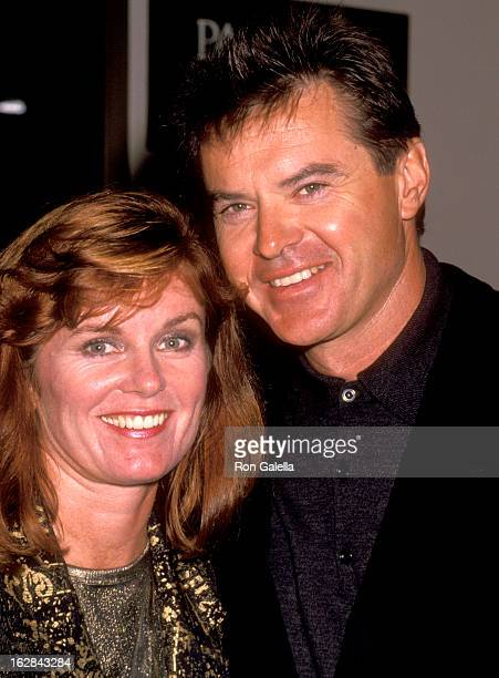 Actor Robert Urich and wife Heather Menzies attend the ABC Television Fall Season KickOff Party on September 11 1991 at Century Plaza Hotel in Los...