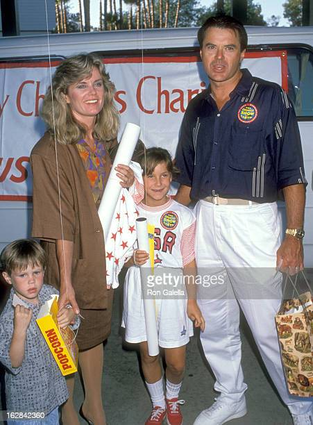 Actor Robert Urich wife Heather Menzies and daughter Emily Urich attend The Greatest Show on Earth Ringling Bros and Barnum Bailey Circus on August 2...
