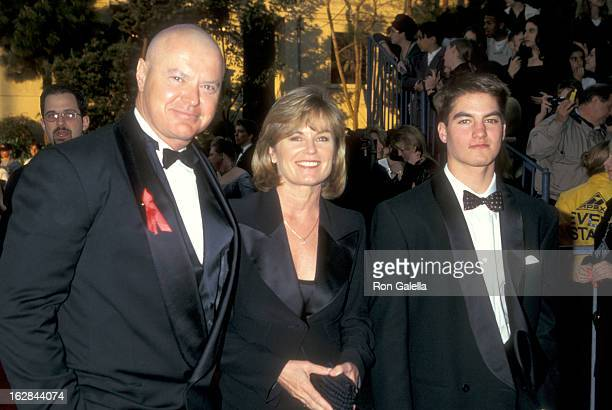 Actor Robert Urich wife Heather Menzies and son Ryan Urich attend the Third Annual Screen Actors Guild Awards on February 23 1997 at Shrine...