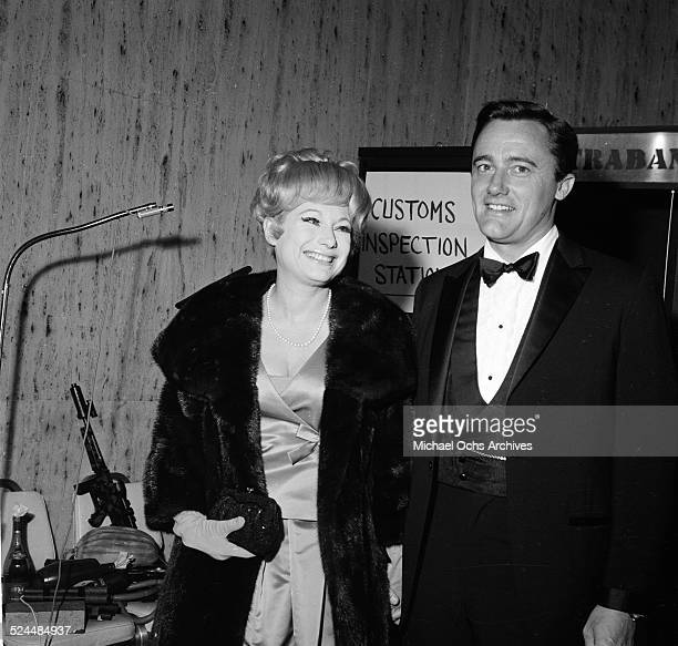 Actor Robert Vaughn and actress Joyce Jameson attend an event in Los AngelesCA