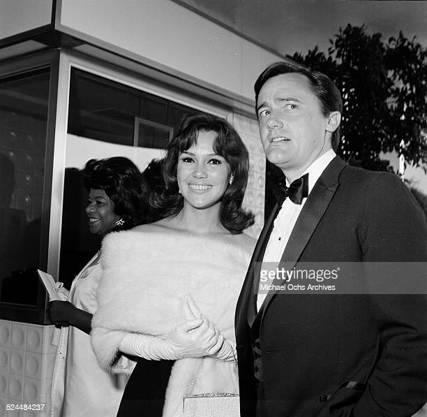 Actor Robert Vaughn and actress Mary Ann Mobley attend an event in Los AngelesCA
