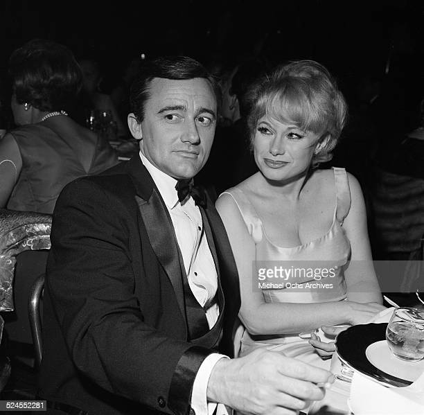 Actor Robert Vaughn and Joyce Jameson attend an event in Los AngelesCA