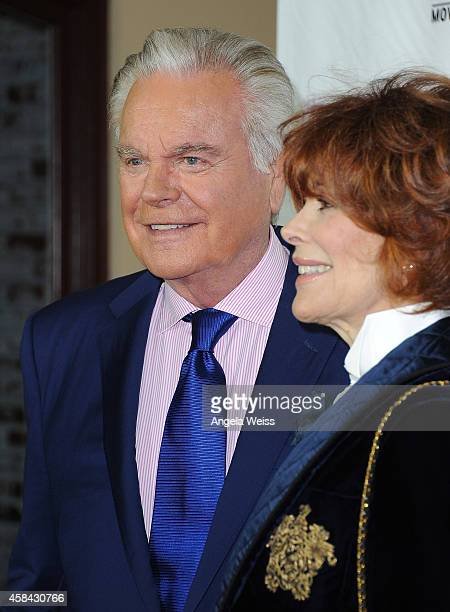 """Actor Robert Wagner and actress Jill St. John arrive at Hallmark Channel's annual holiday event premiere screening of """"Northpole"""" at La Piazza..."""