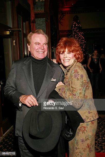 Actor Robert Wagner and actress Jill St John arrives to host the Niche Media Hendrix Electric Vodka's Holiday Launch Party celebrating the release of...